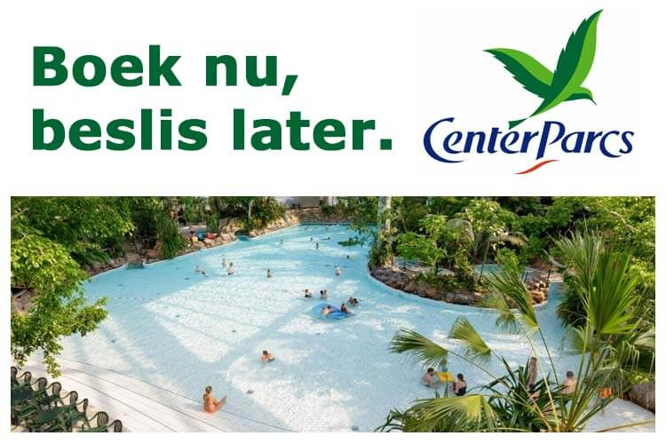 Center Parcs Gratis omboeken